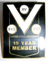 15 year member pin badge