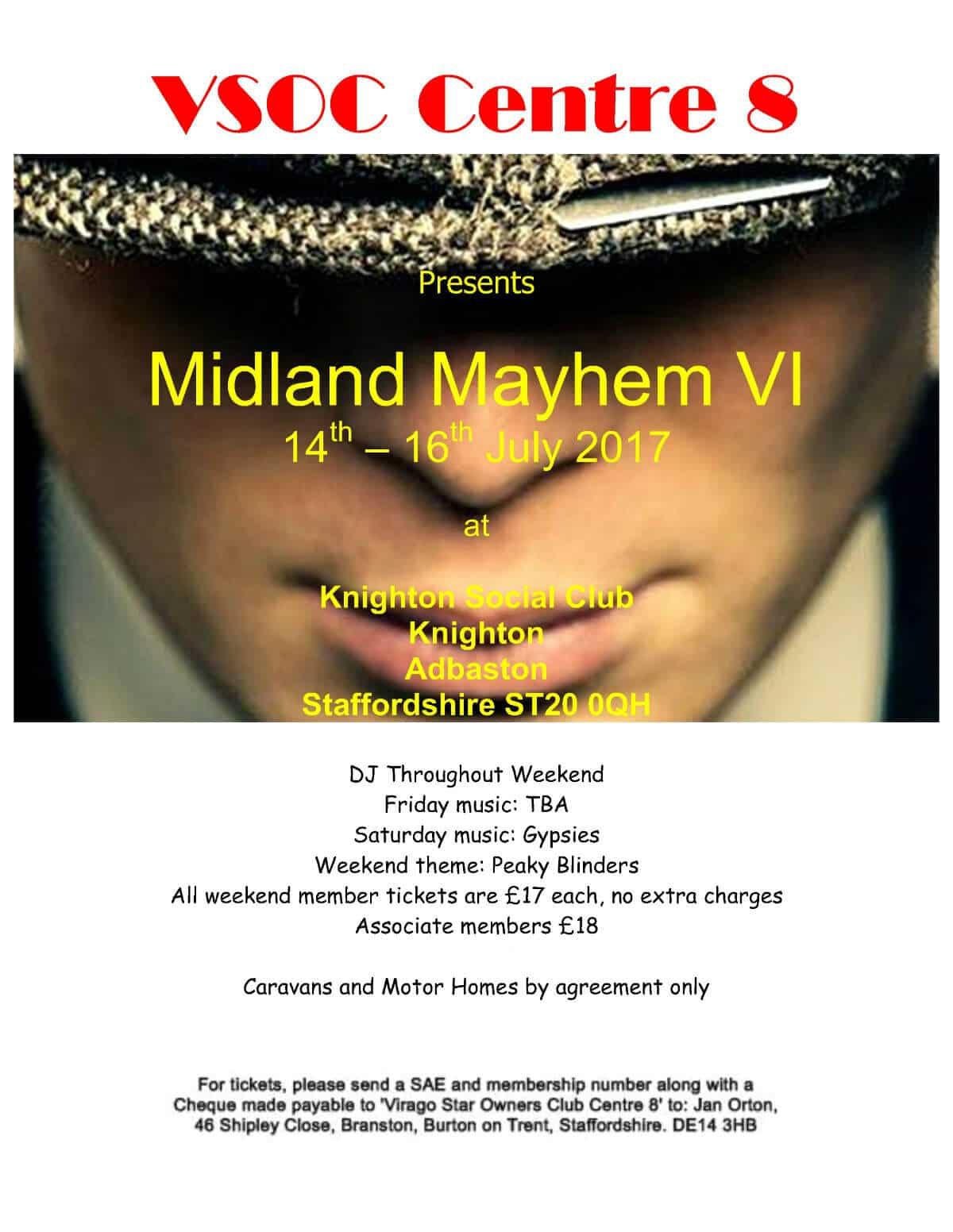 Midland Mayhem Rally flyer