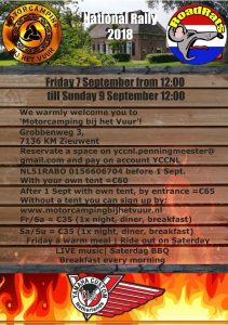 Dutch YCC Sept 2018 Rally Flyer