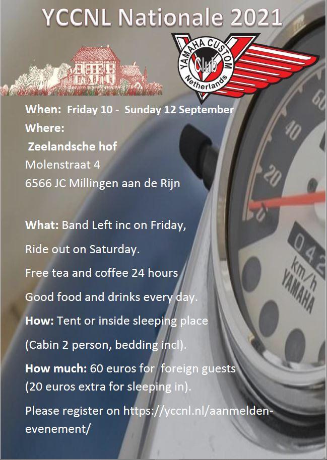VSOCNL Rally flyer